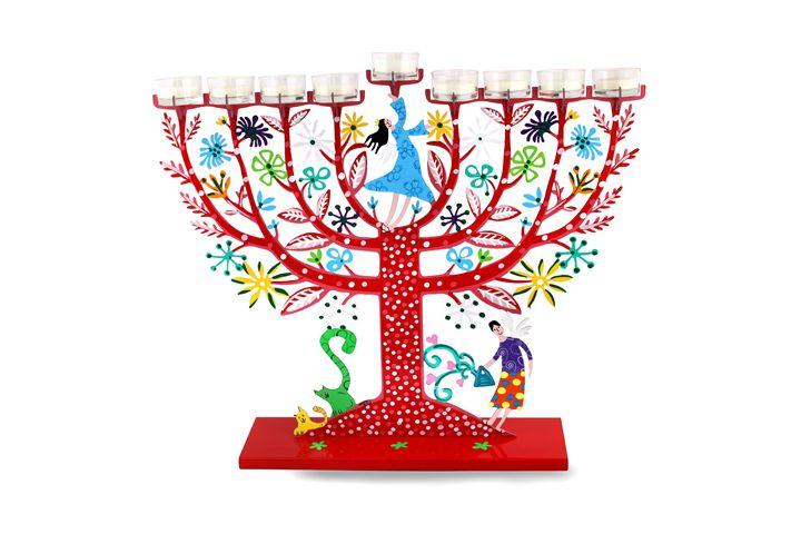Family Tree Menorah Judaica Art - Tzuki Design