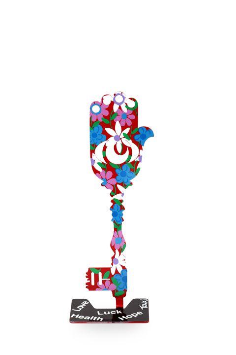 The Key For Luck Red Color Hamsa - Tzuki Design