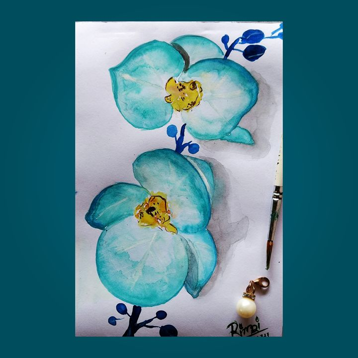 Aqua orchids - RC-ART