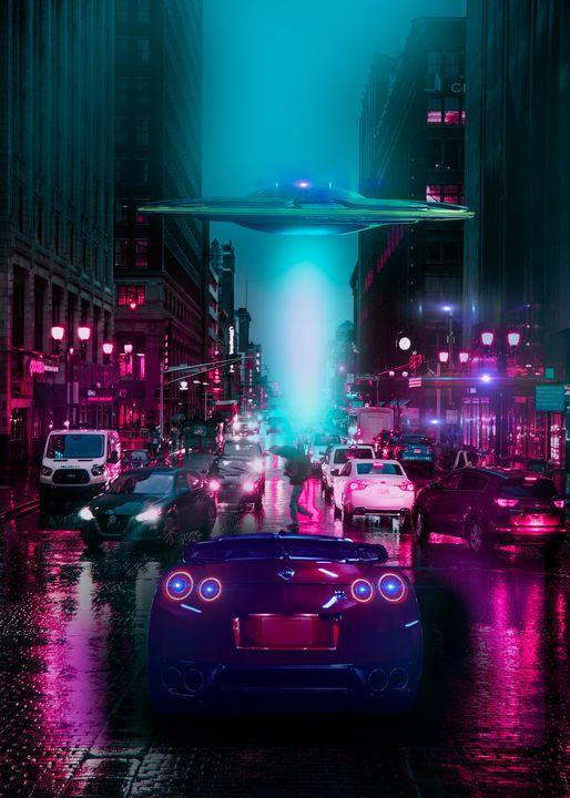 City Neon 2077 Ufo - Jeff Nugroho