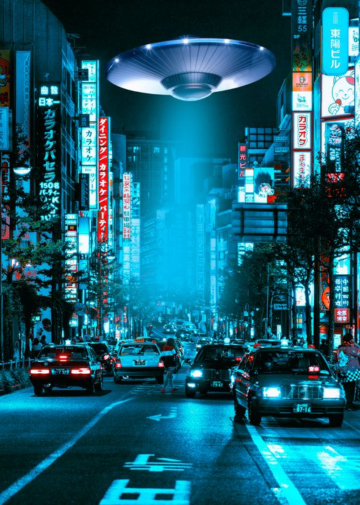Tokyo Street 2077 Ufo - Jeff Nugroho