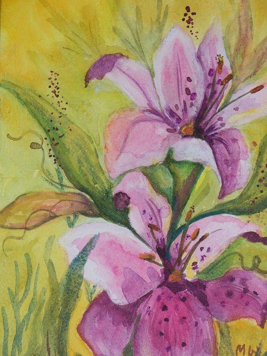 Garden Lilies - artbymarsha