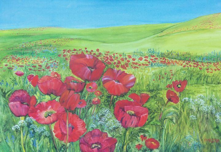 Anne's Poppies - artbymarsha
