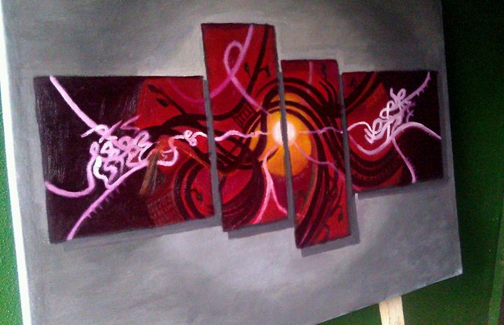 Abstract painting 20 by 30inches. - Godsent Abode