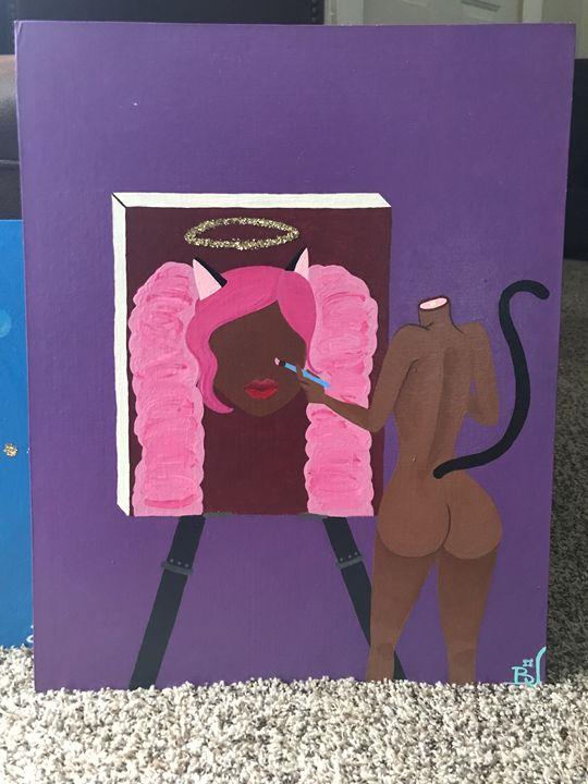 MissUnderstanding Kitten Painting - Squidz Pieces