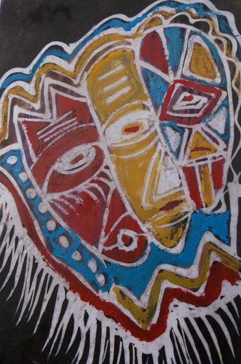 mask design decoration for cloth - JoshuaArtBatikStudio
