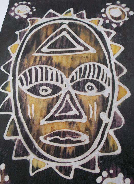 Human face mask decoration - JoshuaArtBatikStudio