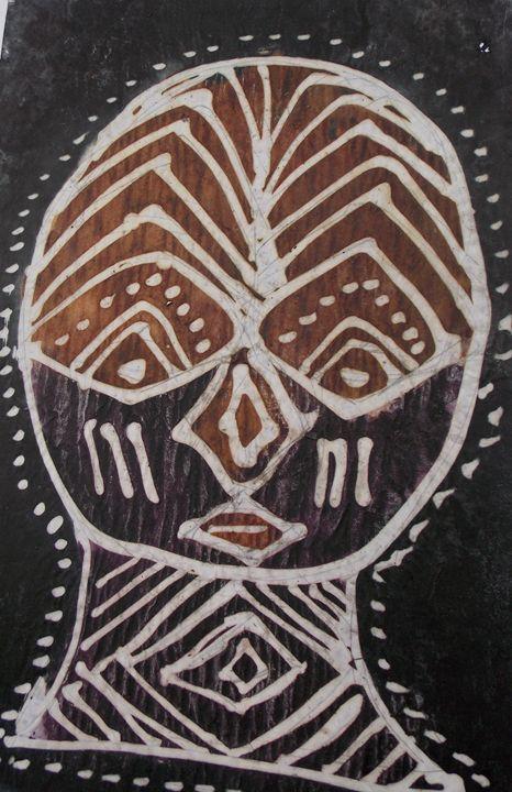 Human Face mask design - JoshuaArtBatikStudio