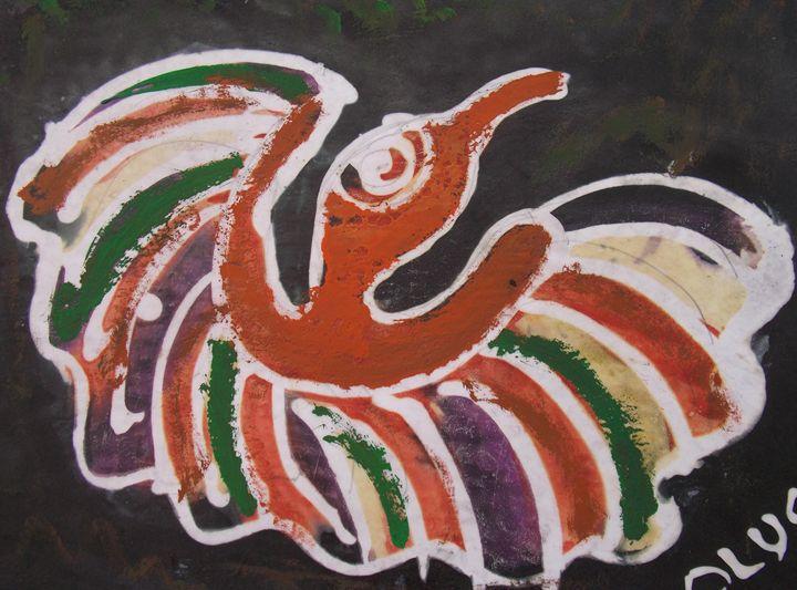 Painted Eagle bird - JoshuaArtBatikStudio