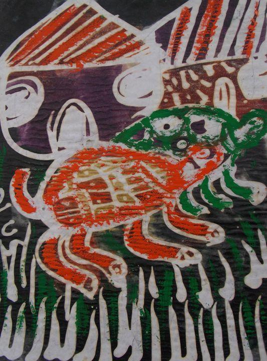 Painted tortoise in the village - JoshuaArtBatikStudio