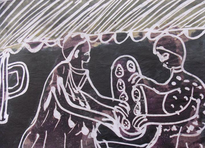 Batik tracing wax draft player - JoshuaArtBatikStudio