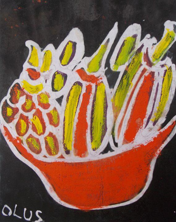 Pineapple inside the bowl - JoshuaArtBatikStudio
