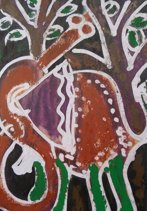 Elephant beside the tree - JoshuaArtBatikStudio