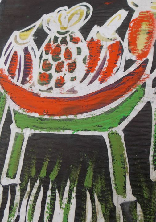 Fruits pinenapple on the table - JoshuaArtBatikStudio