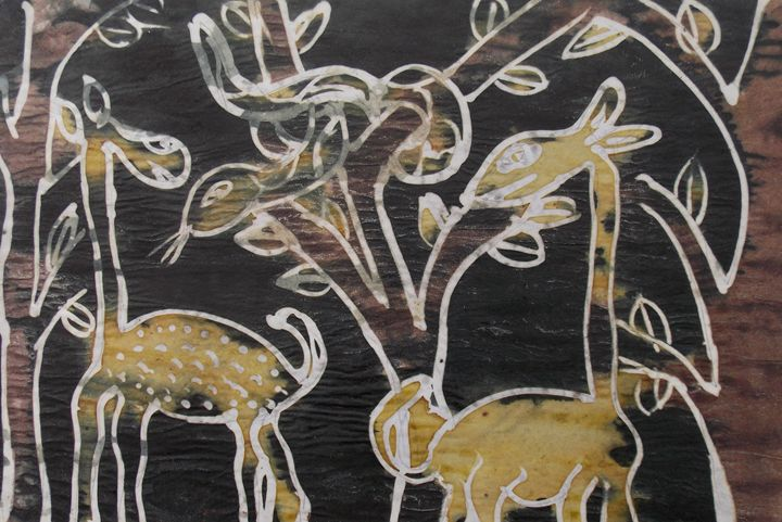 Animals in the bush holding meeting - JoshuaArtBatikStudio