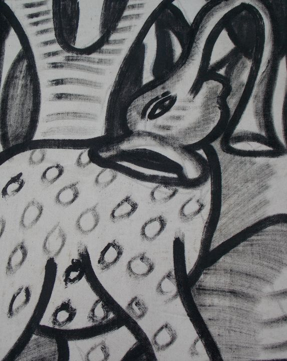Elephant in the bush - JoshuaArtBatikStudio