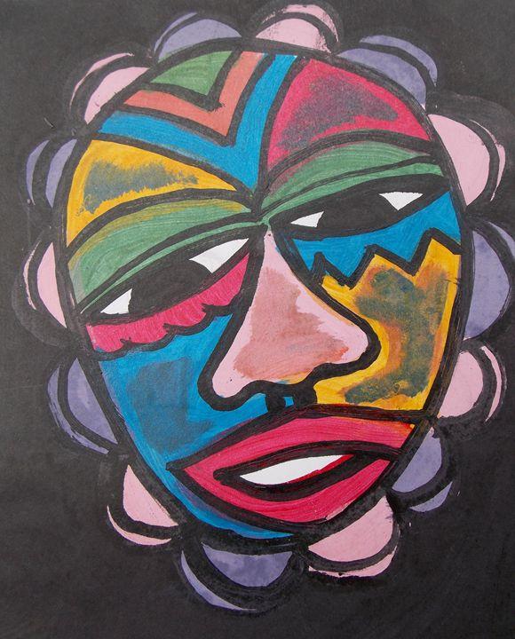 Beautiful decorated face mask - JoshuaArtBatikStudio