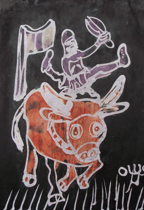 Cow boy displaying - JoshuaArtBatikStudio