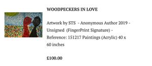 Artwork-WOODPECKERS IN LOVE