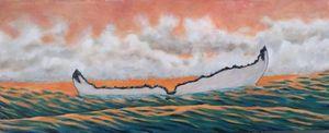 Humpback Fluke Sunset