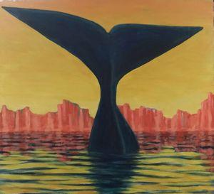 Blue Whale Baja Sunset
