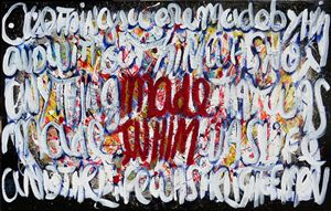 Made in Him/John1:3-4  - 116 X 73 cm