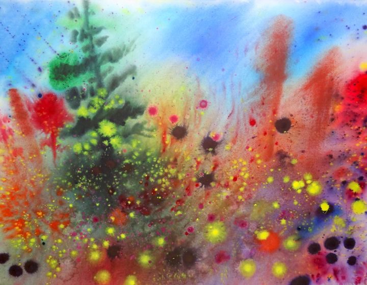 Colorful Landscape - Brook S Powell Art