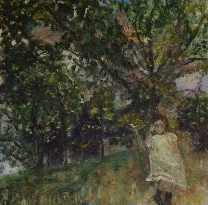 A girl near the tree - why