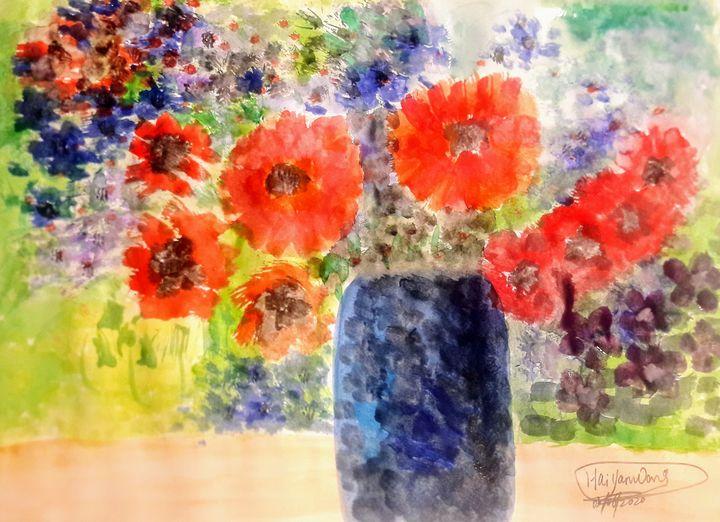《Colourful flowers》 - HaiyanWang
