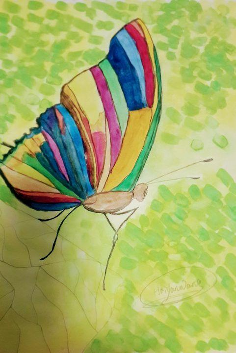 《Colourful butterfly》 - HaiyanWang