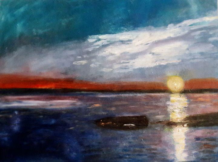 《Sunset on the sea》 - HaiyanWang