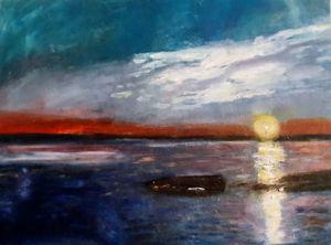 《Sunset on the sea》