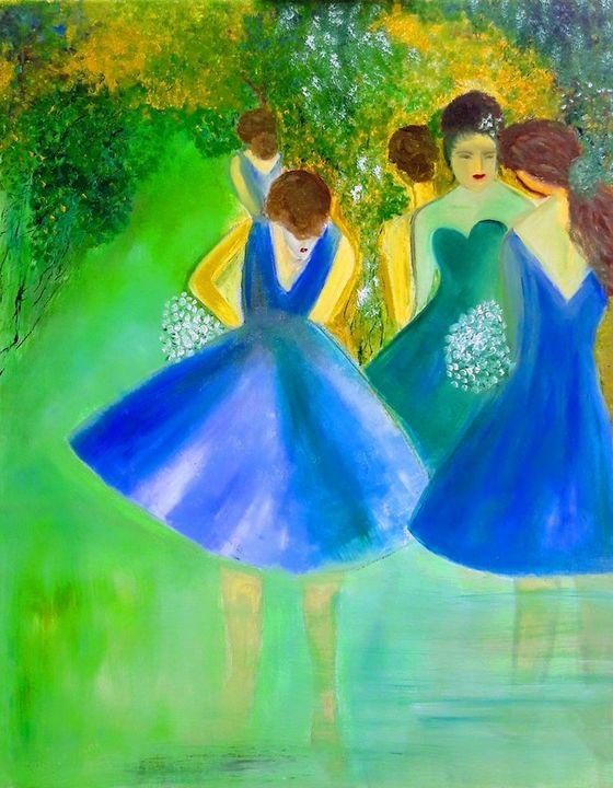 Girls in the forest - HaiyanWang
