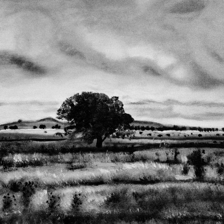 《A tree in the fields》 - HaiyanWang
