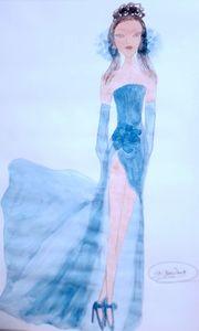 《Girl in a blue dress》