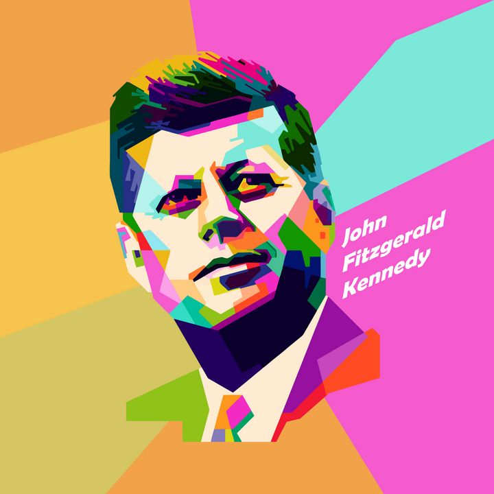 JOHN F KENNEDY ART - cubic sharp face