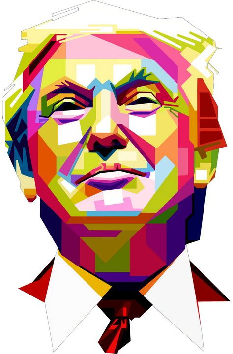 Trump Face - cubic sharp face