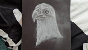 White charcoal eagle