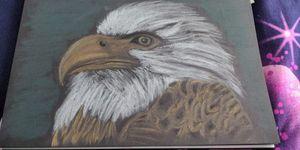 Charcoal eagle