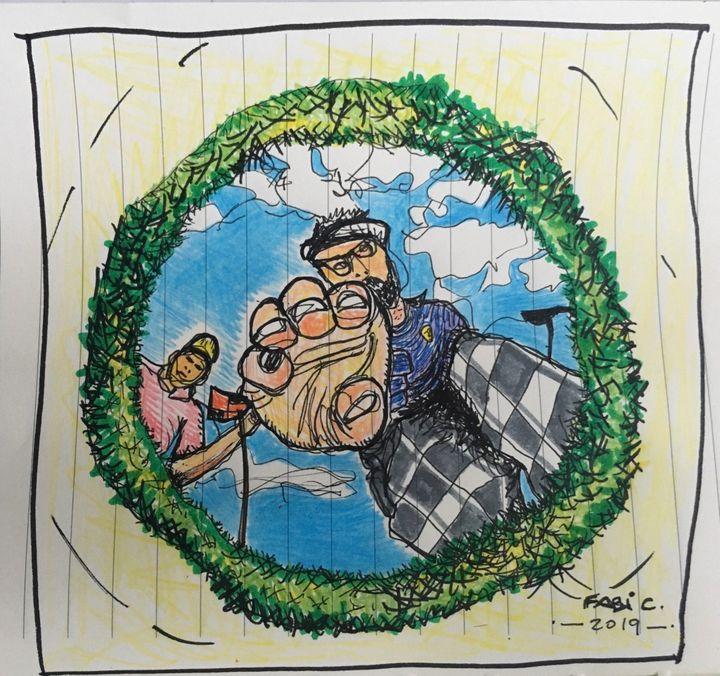 golf ball's view - Fabi