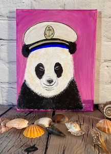 Panda Bear and Sailor Hat