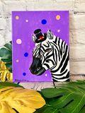 Dapper Zebra with Top Hat