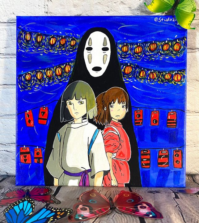 Spirited Away Lovers & No Face - StudioZilla Art