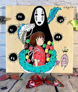 Spirited Away Chihiro and friends