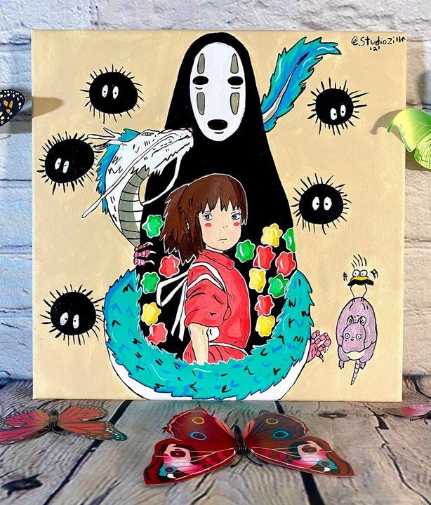 Spirited Away Chihiro and friends - StudioZilla Art