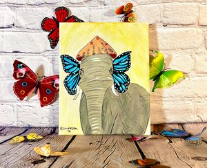 lephant with Butterfly wing Ears - StudioZilla Art