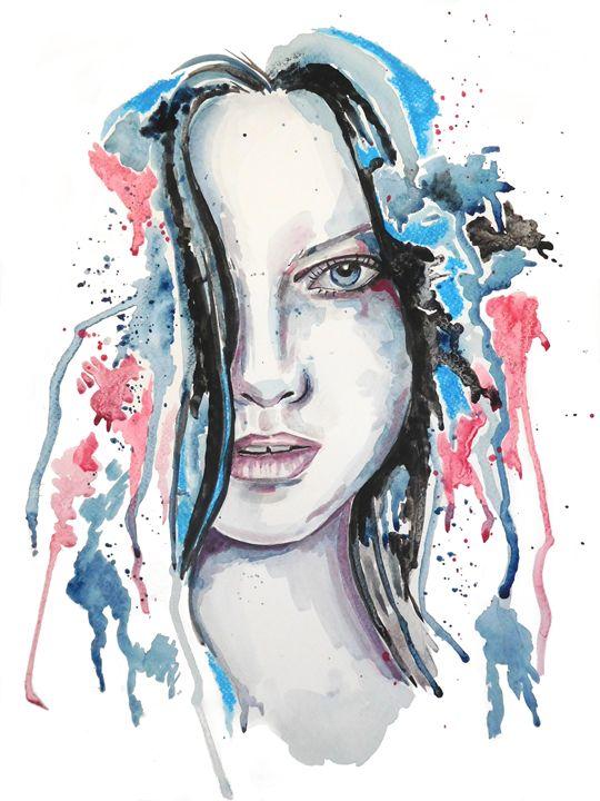 Watercolour Blue - Jo Denham