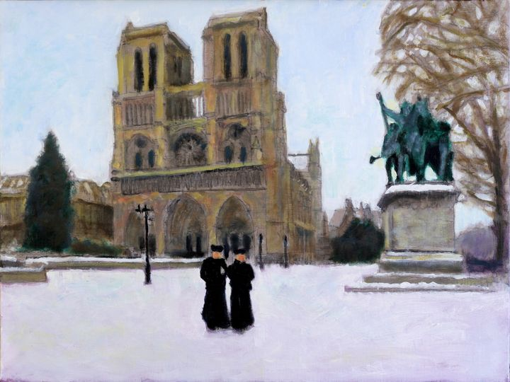 Hiver A Notre Dame - David Zimmerman Fine Art