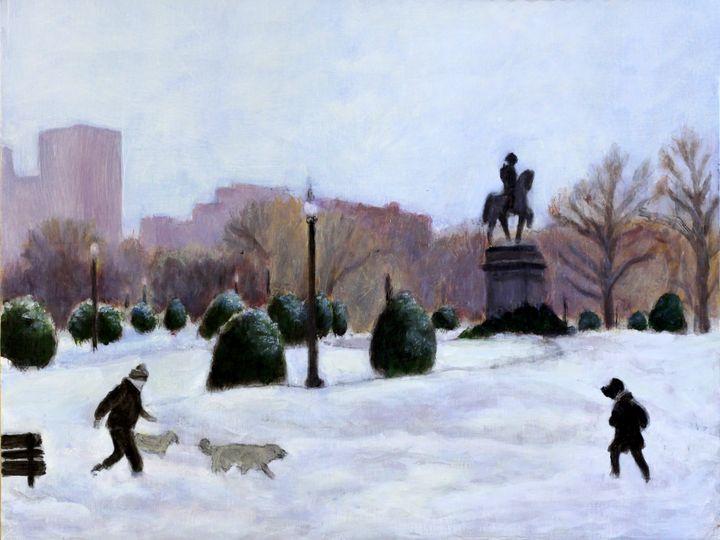 A Walk in The Park - David Zimmerman Fine Art