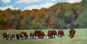 The Herd Shot Round the World - David Zimmerman Fine Art